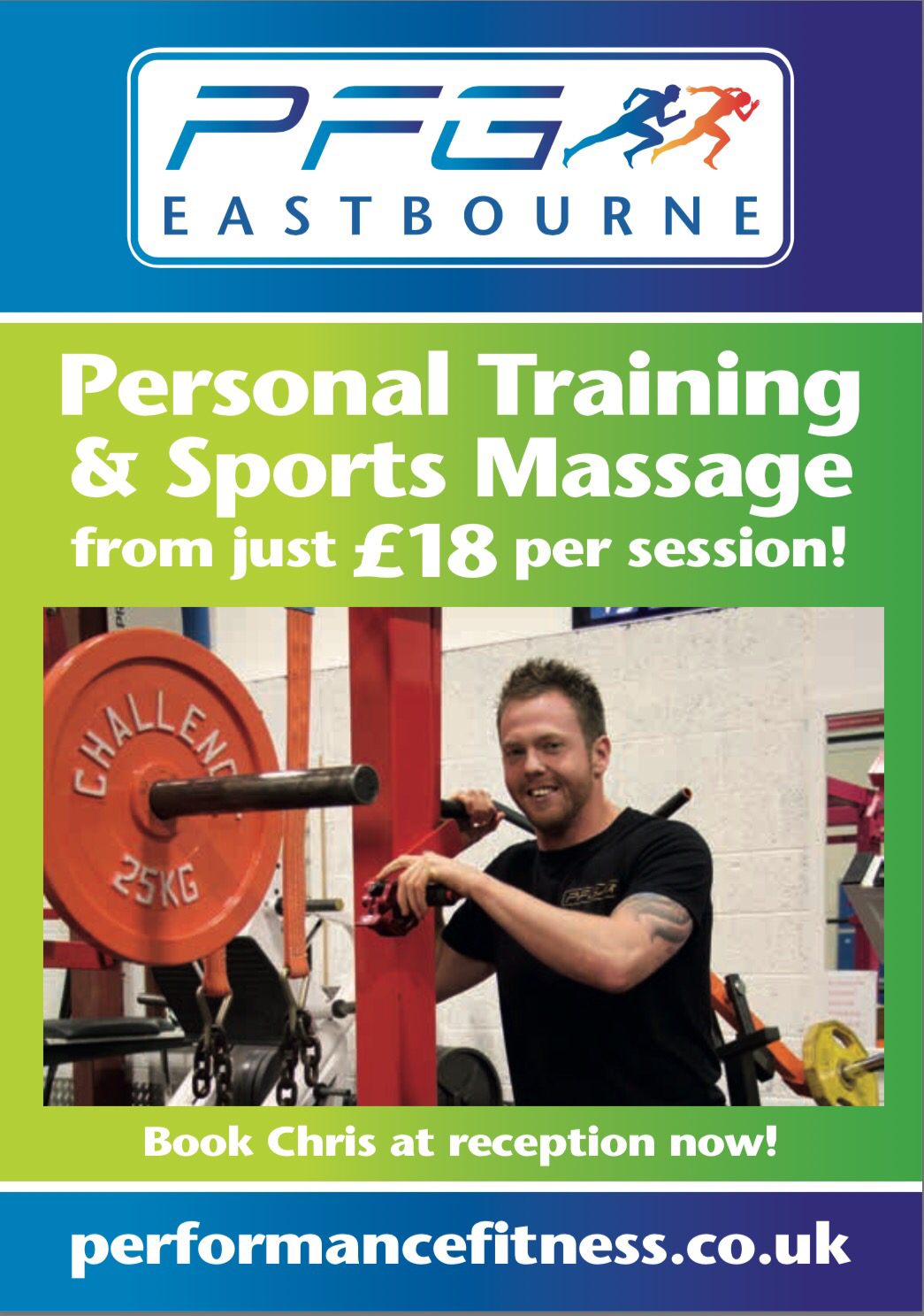 Start 2017 with a helping hand and get some personal training from one of the PFG team